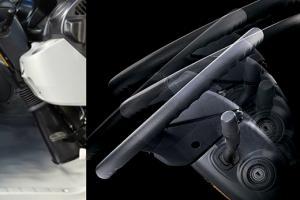 Seat slide adjustment, steering wheel tilt and telescope adjustment