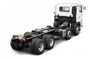 Enhanced design and transport quality to meet different customers' needs, Hino offers 24 to 30 tons cargo chassis